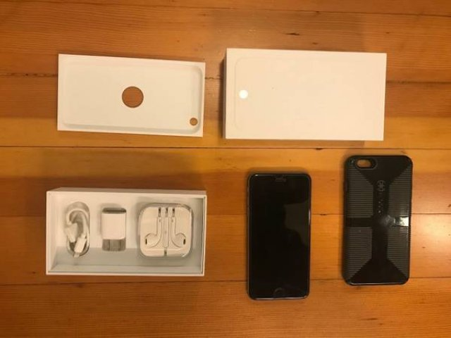 Space Gray Apple Iphone 6+ Plus with 64GB (Unlocked) The Big Phone