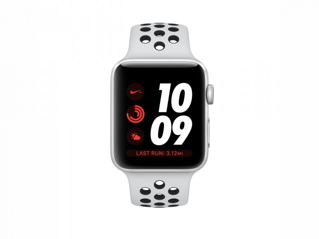 For sale - Refurbished Apple Watch Series 3 GPS + Cellular, 38mmSilver Aluminum Case with Pure Platinum/Black Nike Sport Band