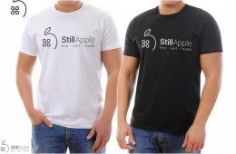 StillApple logo t-shirt black and white