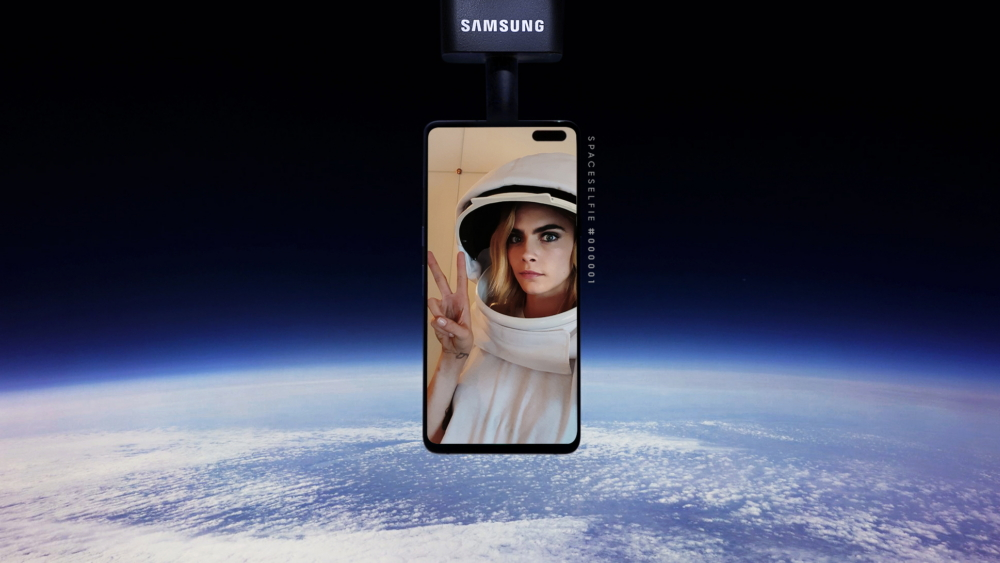 Cara Delevingne and Samsung introduced world's first selfie sent into Space