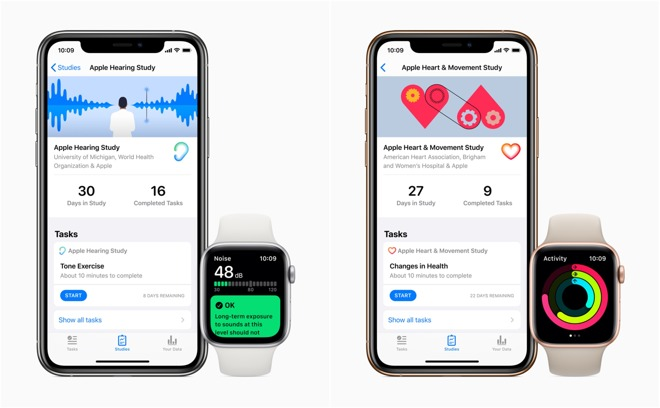 Apple launches new women's health, hearing, & heart and movement studies