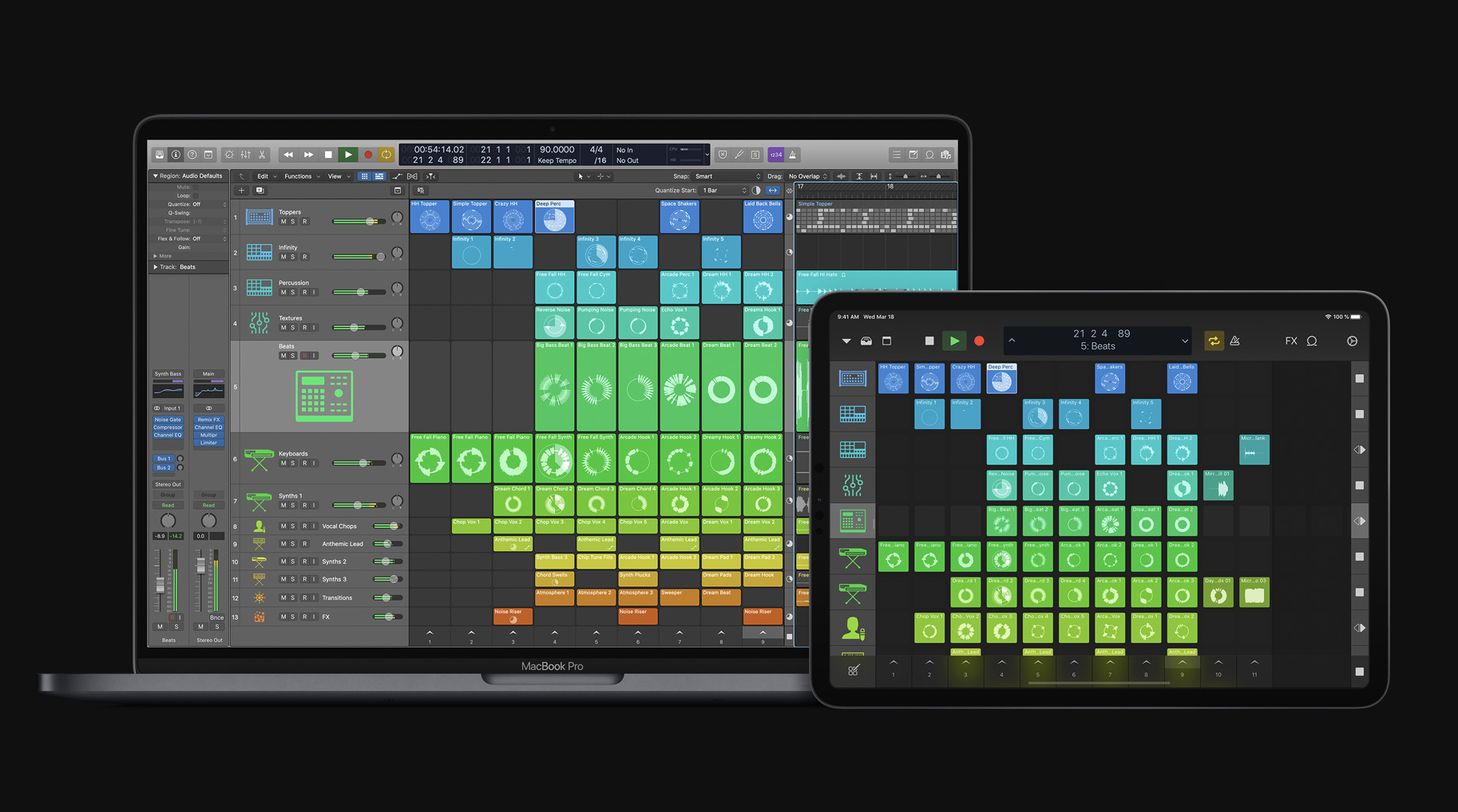 New Creative Tools for Electronic Music Production Make Logic Pro X 10.5