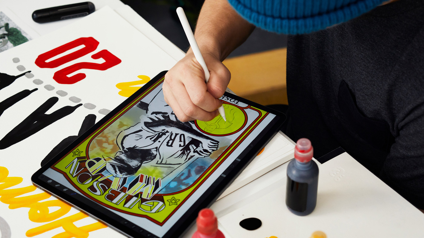 Artists reimagine the baseball card with iPad Pro and Apple Pencil