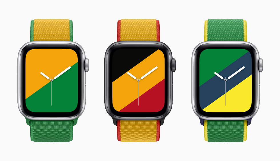 Colorful Apple Watch International Collection bands and faces help show love of country